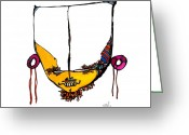 Metis Art Greeting Cards - Intent Greeting Card by Dan Daulby