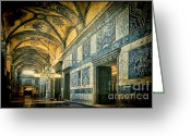 Aya Greeting Cards - Interior Narthex Greeting Card by Joan Carroll