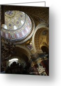 Byzantine Icon Photo Greeting Cards - Interior Greeting Card by Odon Czintos