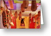 Art Of Building Greeting Cards - Interior of Art-Filled Room Greeting Card by Jeremy Woodhouse