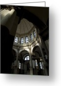 European Union Greeting Cards - Interior Of Basilica Santa Maria Della Greeting Card by Todd Gipstein
