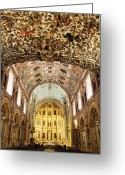 Low Relief Greeting Cards - Interior of the Church of Santo Domingo Greeting Card by Jeremy Woodhouse