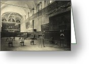 Hall Greeting Cards - Interior of the dining hall of the Church of Santa Maria delle Grazie Milan Greeting Card by Alinari