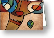 Figures Mixed Media Greeting Cards - Interlude Greeting Card by Tom Fedro - Fidostudio