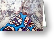 Surrealism Sculpture Greeting Cards - Internally Unzipped Detail Greeting Card by Nancy Mueller