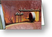 Old Relics Greeting Cards - International AC 180 Greeting Card by Lisa Moore