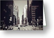 Bicycle Greeting Cards - Intersection - New York City Greeting Card by Vivienne Gucwa
