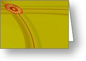 Curved Lines Greeting Cards - Intersection Greeting Card by Bonnie Bruno