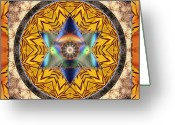 Star Of David Greeting Cards - Interspectra Greeting Card by Bell And Todd