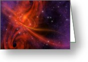 Comet Greeting Cards - Interstellar Twister Greeting Card by Corey Ford