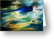 Blues And Greens Greeting Cards - Intimate Moment Greeting Card by Melinda Wilde