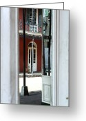 Unique Door Greeting Cards - Into New Orleans Greeting Card by John Rizzuto