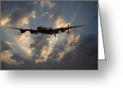 Raf Digital Art Greeting Cards - Into the Night Greeting Card by Pat Speirs