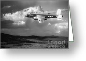 Airplane Greeting Cards - Into The Storm Greeting Card by Arne Hansen