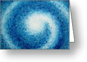 Textured Sculpture Greeting Cards - Into The Storm Greeting Card by Daniel Lafferty