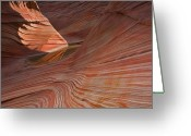 Striations Greeting Cards - Into the Wave Greeting Card by Mike  Dawson
