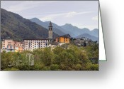Village Church Greeting Cards - Intragna - Ticino Greeting Card by Joana Kruse