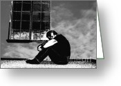 Contemplation Digital Art Greeting Cards - Introspectif de Reveur Greeting Card by Glenn McCarthy Art and Photography