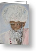 Deep In Thought Painting Greeting Cards - Introspection Greeting Card by Tim Bhajjan