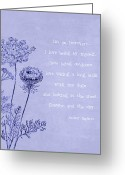 Ble Sky Greeting Cards - Introvert Greeting Card by Tia Helen