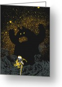 Astronaut Digital Art Greeting Cards - Intruder Greeting Card by Budi Satria Kwan