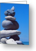 First Star Art By Jammer Greeting Cards - Inukshuk 1 by jammer Greeting Card by First Star Art