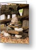 Inuksuk Greeting Cards - Inuksuk no.1 Greeting Card by Iuliana Pacso