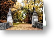 Willows Digital Art Greeting Cards - Inver House - Radnor Pa Greeting Card by Bill Cannon