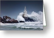 Lighthouse Greeting Cards - Invincible Greeting Card by Evgeni Dinev