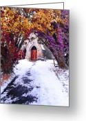 Winter Road Greeting Cards - Invitation Greeting Card by Svetlana Sewell