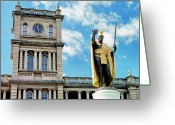 Monarchs Greeting Cards - Iolani Palace Honolulu Greeting Card by Thomas R Fletcher