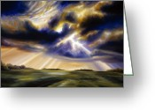 Rain Storms Greeting Cards - Iowa Storms Greeting Card by James Christopher Hill