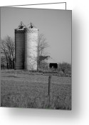 Checkered Greeting Cards - Iowa Towers 1 Greeting Card by Jame Hayes