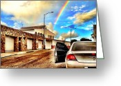 Featured Greeting Cards - #iphone # Rainbow Greeting Card by Estefania Leon