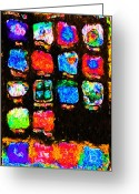 Iphones Greeting Cards - Iphone In Abstract Greeting Card by Wingsdomain Art and Photography