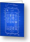 Communication Greeting Cards - iPhone Patent Greeting Card by Stephen Younts