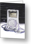 Player Greeting Cards - iPod Greeting Card by Russell Pierce