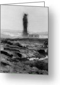 Spout Photo Greeting Cards - IRAQ: OIL WELL, 1930s Greeting Card by Granger