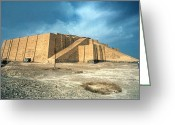 Third Age Greeting Cards - Iraq: Ziggurat In Ur Greeting Card by Granger