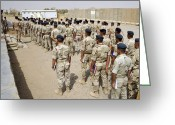 Iraqi Military Greeting Cards - Iraqi Air Force College Cadets March Greeting Card by Stocktrek Images