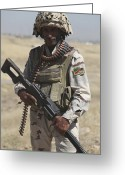 Iraqi Military Greeting Cards - Iraqi Army Soldier Greeting Card by Stocktrek Images