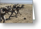 Iraqi Military Greeting Cards - Iraqi Army Soldiers Move To Positions Greeting Card by Stocktrek Images