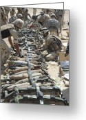 Explosives Greeting Cards - Iraqi Soldiers And The U.s. Army Place Greeting Card by Stocktrek Images