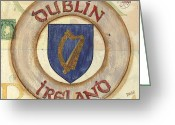 Royalty Greeting Cards - Ireland Coat of Arms Greeting Card by Debbie DeWitt