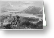 Gill Island Greeting Cards - IRELAND: LOUGH GILL, c1840 Greeting Card by Granger