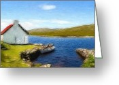 Grass Pastels Greeting Cards - Irelands Beauty Greeting Card by Stefan Kuhn