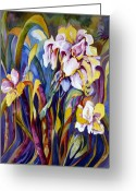 Carolyn Legrand Greeting Cards - Iris Greeting Card by Carolyn LeGrand