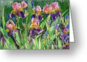 Most Greeting Cards - Iris inspiration Greeting Card by Zaira Dzhaubaeva