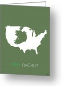 Multicultural Greeting Cards - Irish America Poster Greeting Card by Irina  March