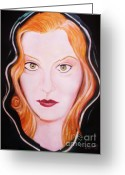Fineartprint Greeting Cards - Irish Cailin  Greeting Card by Liam O Conaire